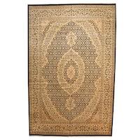 Herat Oriental Pakistani Hand-knotted Tabriz Wool Rug (12' x 18'7) - 12' x 18'7