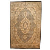 Herat Oriental Pakistani Hand-knotted Tabriz Wool Rug (12' x 18'7)
