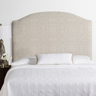 Humble + Haute Parker Tall Taupe/Ivory Arched Upholstered Headboard