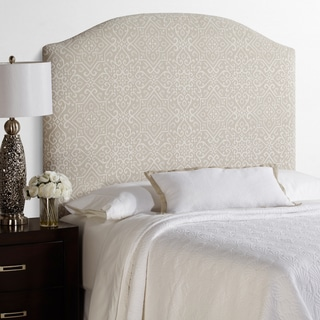 Humble + Haute Parker Tall Full Size Taupe/Ivory Arched Upholstered Headboard