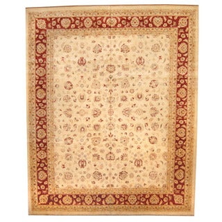 Herat Oriental Afghan Hand-knotted Oushak Wool Rug (11'10 x 14'6)