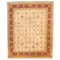 Herat Oriental Afghan Hand-knotted Oushak Wool Rug - 11'10 x 14'6