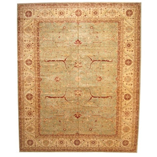 Herat Oriental Afghan Hand-knotted Vegetable-dyed Oushak Wool Rug (13'2 x 16')