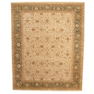 Herat Oriental Indo Hand-knotted Vegetable-dyed Tabriz Wool Rug (11'9 x 14'4)