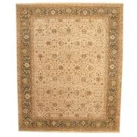 Herat Oriental Indo Hand-knotted Vegetable Dye Tabriz Wool Rug (11'9 x 14'4) - 11'9 x 14'4