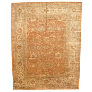 Herat Oriental Indo Hand-knotted Vegetable Dye Oushak Wool Rug (12'x 15'4)