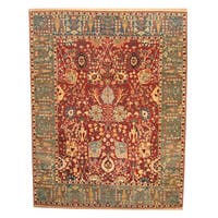 Herat Oriental Indo Hand-knotted Vegetable Dye Oushak Wool Rug (12' x 15')