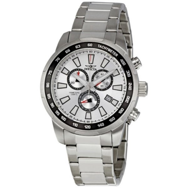 a5b9aadc04f Invicta Swiss ChronoGraph Tachymeter Sport Silver Dial Stainless Date Watch