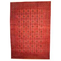 Handmade Herat Oriental Afghan Vegetable Dye Khal Mohammadi Wool Rug (Afghanistan) - 12'10 x 19'5