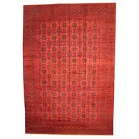 Herat Oriental Afghan Hand-knotted Vegetable Dye Khal Mohammadi Wool Rug (12'10 x 19'5) - 12'10 x 19'5