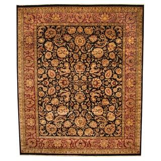 Herat Oriental Indo Hand-knotted Tabriz Wool Rug (12' x 14'6)
