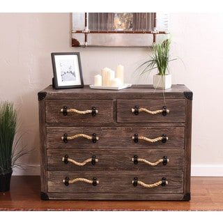 Somette Gray-Wash 5-Drawer Nautical Chest