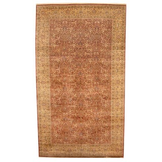 Herat Oriental Indo Hand-knotted Tabriz Wool Rug (9' x 15'6)