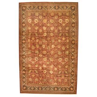 Herat Oriental Indo Hand-knotted Tabriz Wool Rug (11'7 x 18'4)