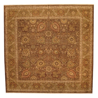 Herat Oriental Indo Hand-knotted Tabriz Wool Rug (14' x 14')
