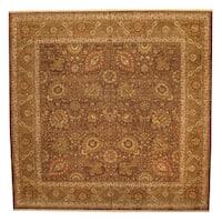Handmade Herat Oriental Indo Tabriz Wool Rug  - 14' x 14' (India)