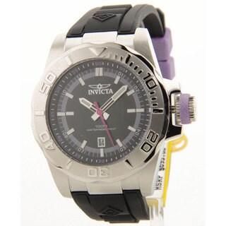 Invicta Men's Ocean Baron Pro Diver 10ATM Quartz Black Polyurethane Strap Date Watch