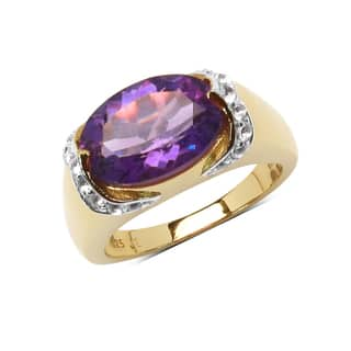 Olivia Leone Yellow Goldplated Sterling Silver 5ct Genuine Amethyst and White Topaz Ring|https://ak1.ostkcdn.com/images/products/10515866/P17600173.jpg?impolicy=medium