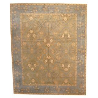 Herat Oriental Nepali Hand-knotted Vegetable Dye Tibetan Wool Rug (12' x 14'10)