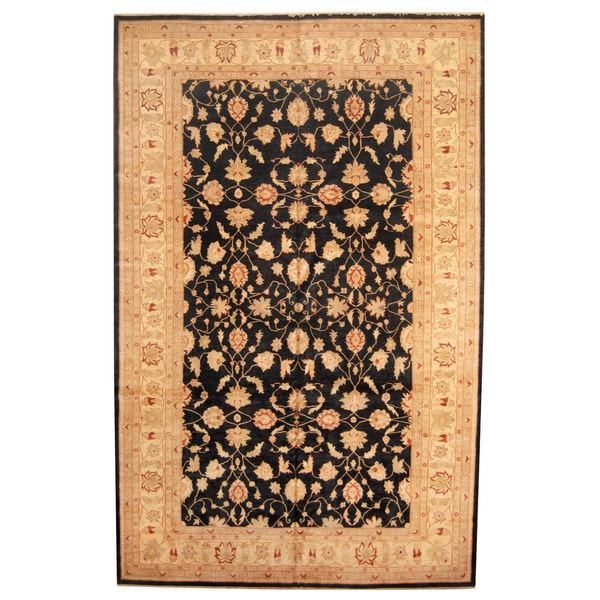 Herat Oriental Afghan Hand-knotted Vegetable Dye Oushak Wool Rug (10' x 15'9)
