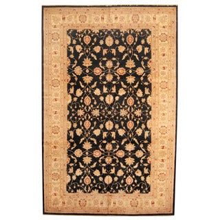 Herat Oriental Afghan Hand-knotted Vegetable-dyed Oushak Wool Rug (10' x 15'9)