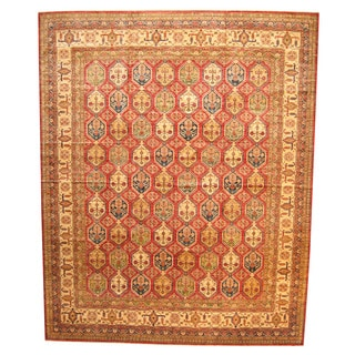 Herat Oriental Afghan Hand-knotted Vegetable Dye Super Kazak Wool Rug (13'7 x 16'10)