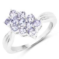 Olivia Leone Sterling Silver 7/8ct Genuine Tanzanite Ring
