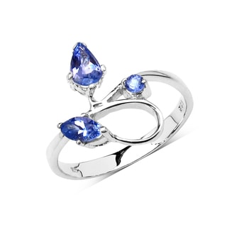 Olivia Leone Sterling Silver 5/8ct Genuine Tanzanite Ring