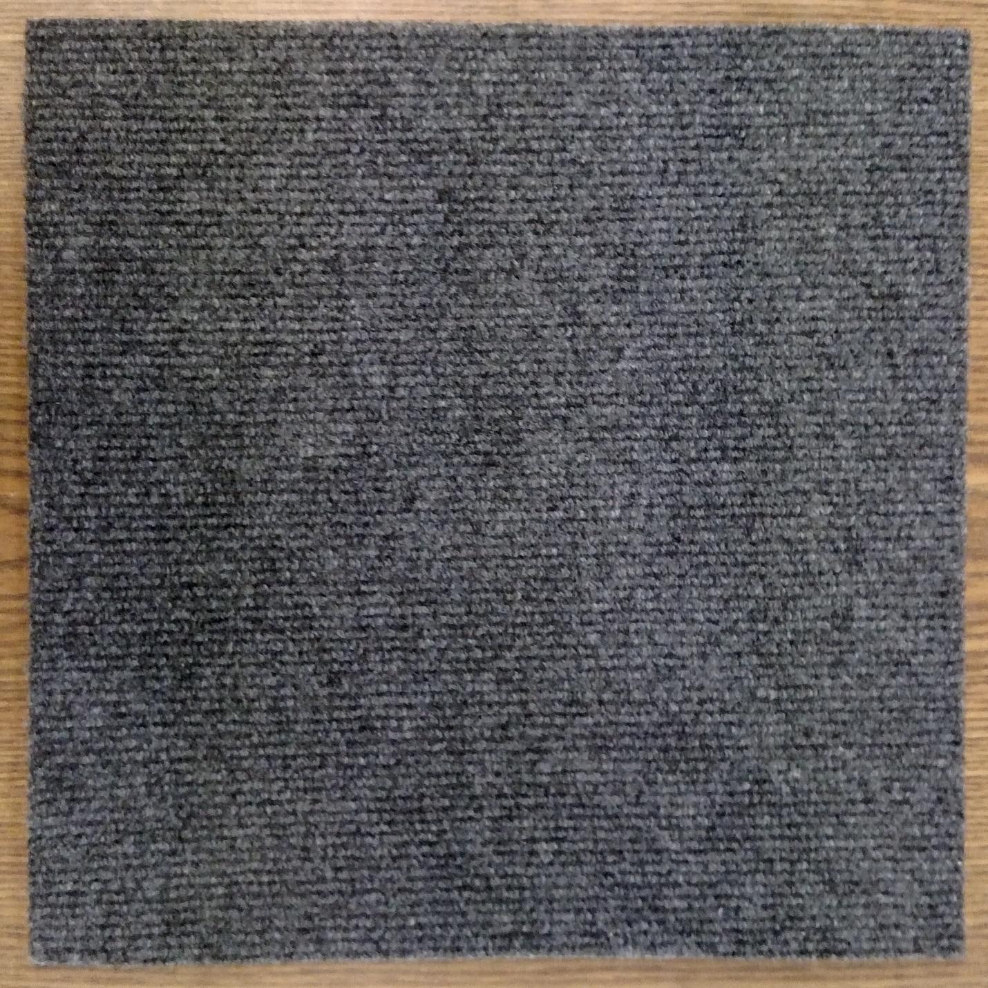 Peel And Stick 36 sq. ft. Charcoal Grey Carpet Tiles (Cha...
