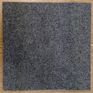 Peel And Stick 36 sq. ft. Charcoal Grey Carpet Tiles