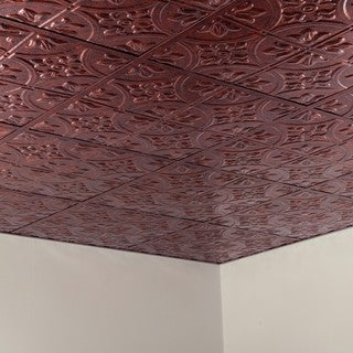 Fasade Traditional Style #2 Moonstone Copper 2-foot Square Lay-in Ceiling Tile