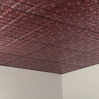 Fasade Traditional Style #1 Moonstone Copper 2-foot Square Lay-in Ceiling Tile