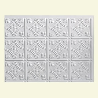 Fasade Traditional Style #1 Matte White Backsplash Panel