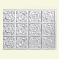 Fasade Traditional Style #1 Matte White Backsplash Panel