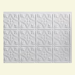 Fasade Traditional Style 1 Matte White Backsplash Panel
