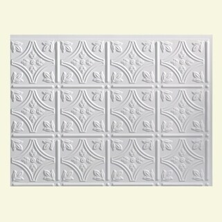 fasade traditional style 1 matte white backsplash panel