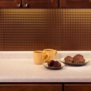 Fasade Square Oil Rubbed Bronze Backsplash Panel