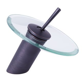 Dyconn Faucet Glass Head Waterfall 6-Inch Bathroom/Vessel Faucet
