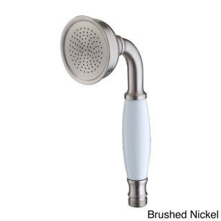 Dyconn Faucet Tranditional/Classic Hand Shower with Ceramic Handle (Option: Nickel Finish/Brushed)