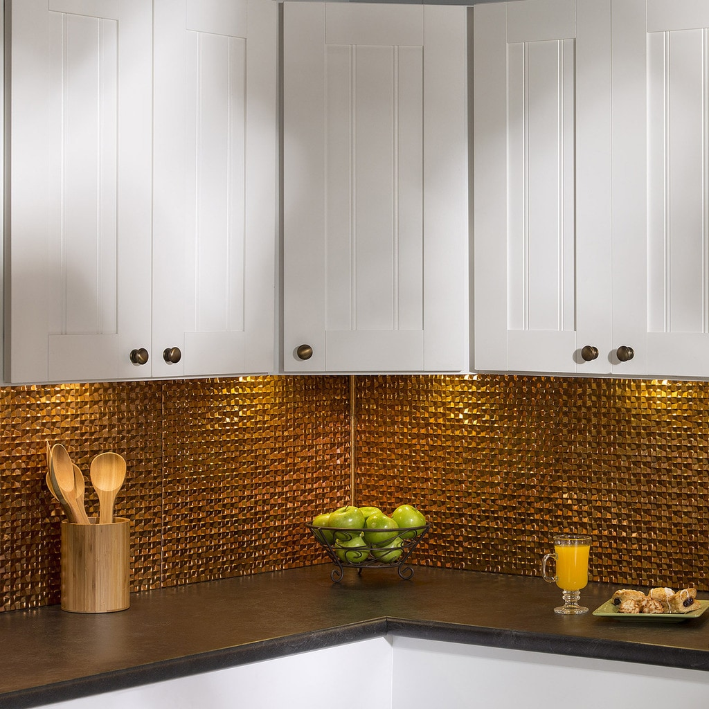 - Shop Fasade Terrain In Muted Gold Backsplash 18 Square Feet Kit