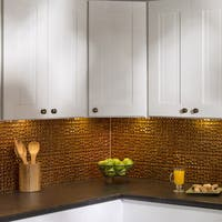 Fasade Terrain in Muted Gold Backsplash 18 square feet kit