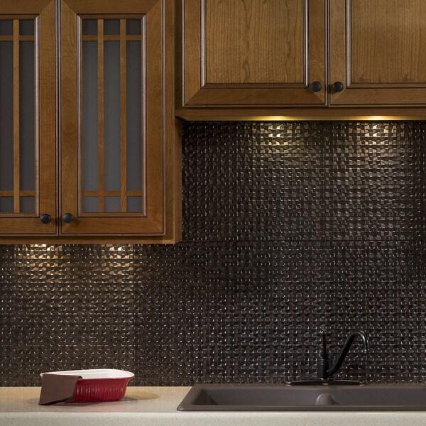 fasade waves cracked copper 18 square foot backsplash kit mi
