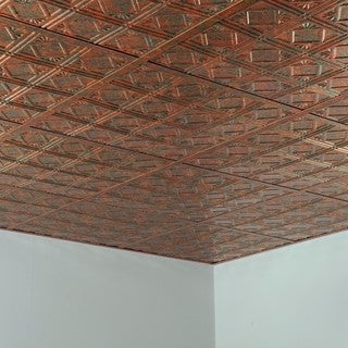 Fasade Traditional Style #4 Copper Fantasy 2-foot Square Lay-in Ceiling Tile