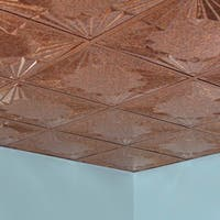 Fasade Art Deco Cracked Copper 2-foot Square Lay-in Ceiling Tile