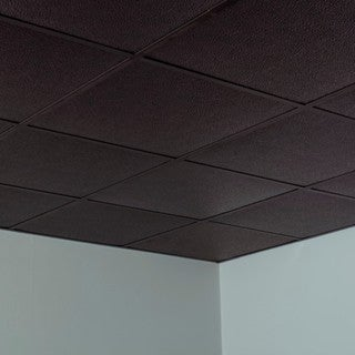 Fasade Hammered Smoked Pewter 2-foot Square Lay-in Ceiling Tile