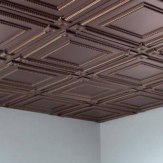 Fasade Coffer Argent Bronze 2-foot Square Lay-in Ceiling Tile