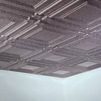Fasade Coffer Galvanized Steel 2-foot Square Lay-in Ceiling Tile