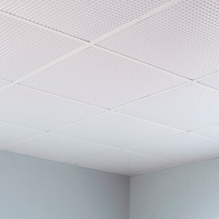 Fasade Square Gloss White 2-foot Square Lay-in Ceiling Tile