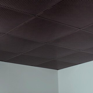 Fasade Square Smoked Pewter 2-foot Square Lay-in Ceiling Tile