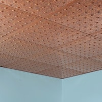 Fasade Dome Cracked Copper 2-foot Square Lay-in Ceiling Tile